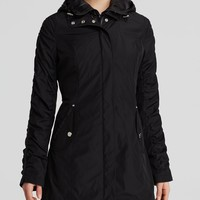 Laundry by Shelli Segal Coat - Windbreaker with Detachable Quilted Bib