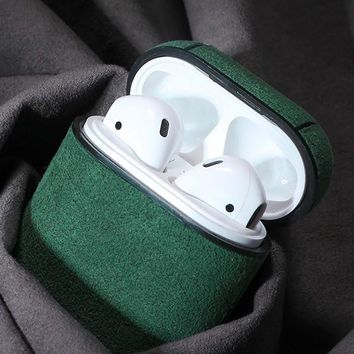 Soft Leather Waterproof AirPods Case