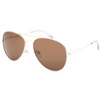 Full Tilt Aviator Sunglasses Gold One Size For Women 25652362101