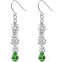 Clever Clover Green Dangle Earrings | Body Candy Body Jewelry