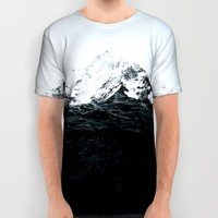 Those waves were like mountains All Over Print Shirt by Robert Farkas