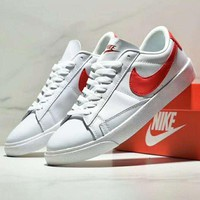 NIKE WMNS BLAZER LOW LE Fashion New Red Hook Women Men Shoes White