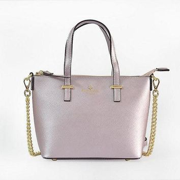 PEAP2Q hot sale kate spade new york women fashion shopping pu tote handbag shoulder bag color light purple