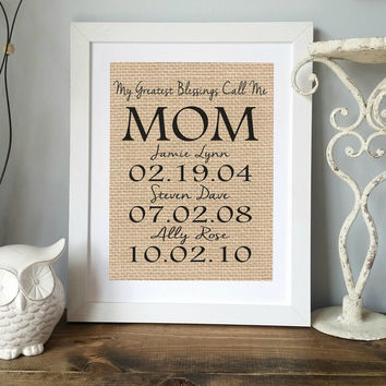 Wedding Present For My Mom : Personalized Gift for MOM Mothers Day Gift from Kids Gift for Mom ...