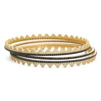 Freida Rothman 'Crown Eternity' Bangles (Set of 3) | Nordstrom