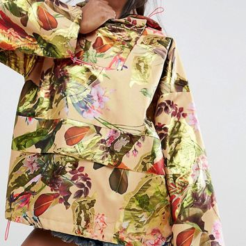 ASOS Jacquard Anorak with Fluro Trims at asos.com