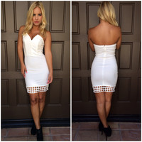 Veronica Cutout Mini Dress - WHITE
