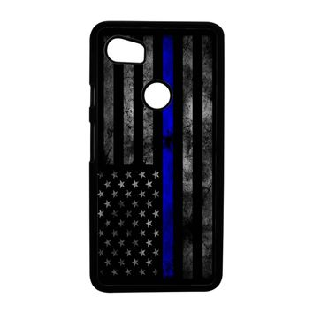 American Police Officer The Thin Blue Line Google Pixel 2 XL Case Case