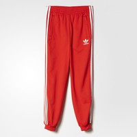 adidas Superstar Pants - Lush Red,White | adidas US