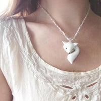 Fox Pendant Necklace | Glasswork Necklace | Lamp-work Glass