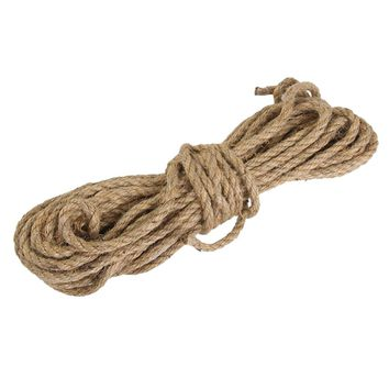 6mm 15M Festival Decor Jute String Twine Twisted Hessian Hemp Cable for Craft DIY Party Supplies