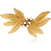 Dolce & Gabbana - Gold-tone and faux pearl hairclip