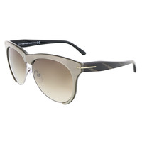 Tom Ford Grey Bronze Clubmaster Sunglasses