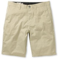 Volcom Frickin Modern Grey Stretch Chino Shorts