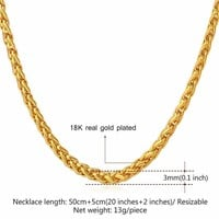 Necklaces 18K Real Gold /Platinum Plated