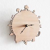 Home Sweet Home Modern Wall Clock by iluxo on Etsy