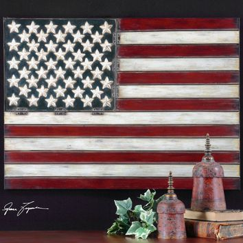 American Flag Metal Wall Art By Uttermost