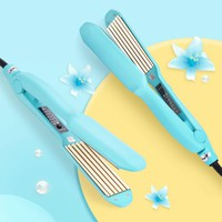 Corrugated Curling Irons Hair Chapinha Straightener Crimper Fluffy Small Waves Hair Curlers Corn Plate Perm Splint Styling Tools