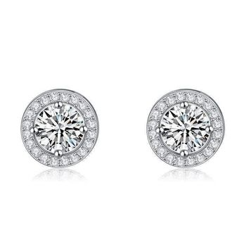 CLEARANCE - Enchanted Halo Crystal Stud Earrings