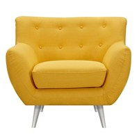 Anke Mid Century Modern Armchair - Papaya Yellow