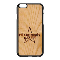 Carved on Wood Effect_Celebrity Hater Black Hard Plastic Case for iPhone 6 Plus by Chargrilled