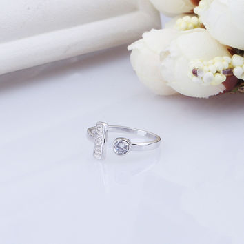 New Arrival Gift Jewelry Shiny 925 Silver Accessory Korean Stylish Fashion Ring [7652915527]