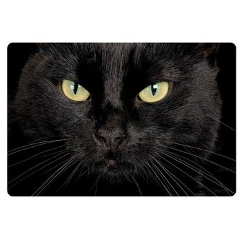 Autumn Fall welcome door mat doormat Novelty Black Cat Entrance Floor Mat Funny Cats Kitten Anti Slip Rubber   Cool Rug Carpet for Front Door Kitchen 40*60cm AT_76_7