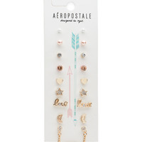 Aeropostale  Arrow Stud Earring 9-Pack