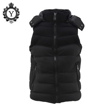 COUTUDI 2016 New Mens Vest Black Sleeveless Jacket Polyester Plus Size Vest Men Jackets Fashion Chalecos Hombre Sin Mangas Warm