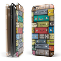 Multicolored Traveling Suitcases iPhone 6/6s or 6/6s Plus 2-Piece Hybrid INK-Fuzed Case
