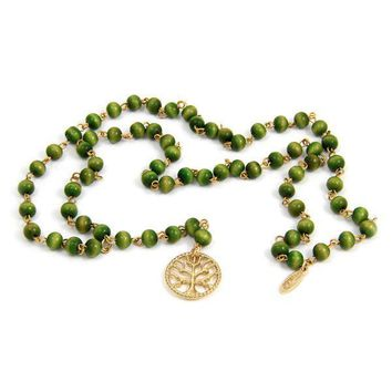Tree of Life Rosary Necklace