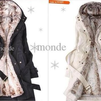 Hot New Hooded Women's Fur coats Winter With Faux Fur Ling Long Coat women's Outerwear women's clothes plus size women jackets