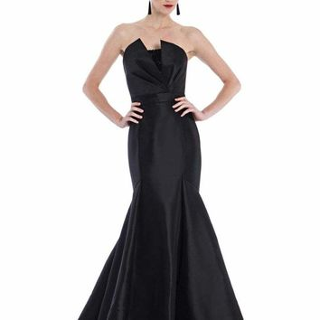Theia - 882041 Asymmetrical Front Sequined Evening Dress