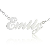 Custom 925 Sterling silver Cursive name necklace