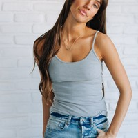 Luca Love Grey Ribbed Tank Basic - Luca + Grae