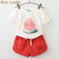 Girls Clothing Sets Casual Watermelon Print Design Short Sleeve + Pants Kids Clothing Sets