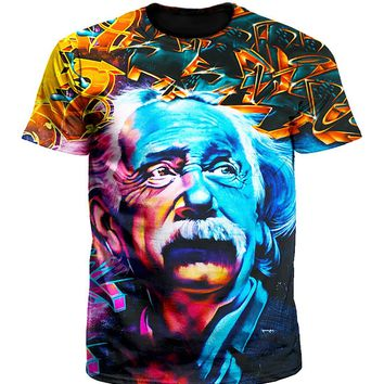 Albert Einstein Graffiti Portrait Unisex T-Shirt