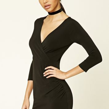 Surplice Front Bodycon Dress