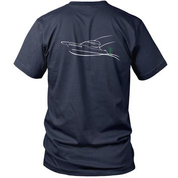 Marker Nine Sport Fishing Boat Short Sleeve T-Shirt