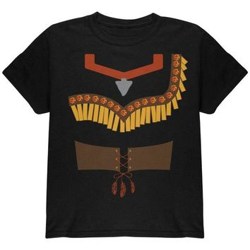 LMFON Halloween Native American Princess Costume Red Youth T Shirt