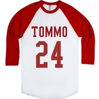 Tommo 24 (Louis) + birthday-Unisex White/Red T-Shirt