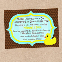 Rubber Ducky Baby Shower Invitation DIY by DecorableDesigns