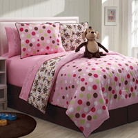 Reversible Monkey Twin Bed Set in Multi-Color