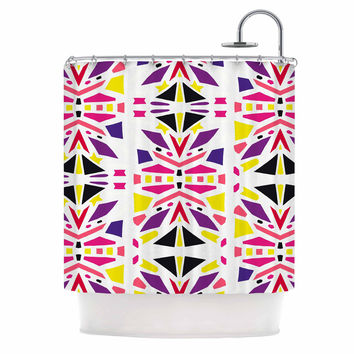 "Miranda Mol ""Summer Mood"" Yellow Purple Shower Curtain"