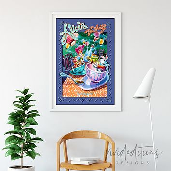 Alice in Wonderland, Tea Party, Disneyland Poster