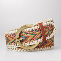 FOSSIL Clothing Belts:Women Chevron Weave Belt
