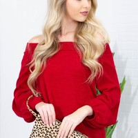Cherry Amore Off Shoulder Top