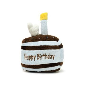 FouFou Dog New Birthday Cake Squeak Toy