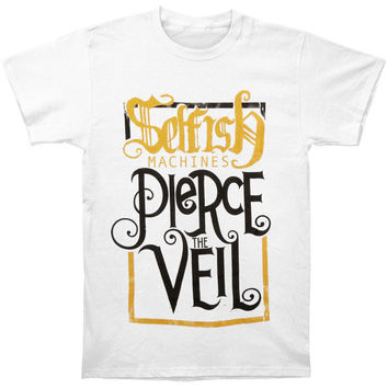 Pierce The Veil Men's  Selfish Machines T-shirt White Rockabilia
