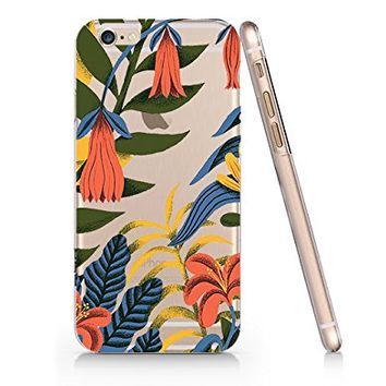 Tropical Flower Slim Iphone 6 6s Case, Clear Iphone Hard Cover Case For Apple Iphone 6 6s Emerishop (NLA102.6sl)